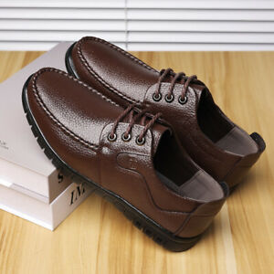 Men Oxford Casual Driving Shoe Lace Up Handmade PU Leather Shoes Comfort Loafers
