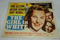 Vintage 1952 Movie Lobby Title Card for The Girl in White starring June Allyson