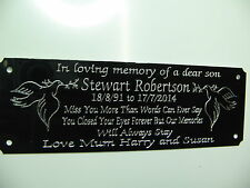 **Metal Dove Bench Memorial Plaque Plate Sign Personalised Engraved 140x55mm**