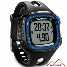 Garmin Forerunner 15 GPS ANT+ Running Watch & Activity Tracker,Large, Black/Blue