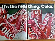 1970 Coke Coca-Cola Ad   Cans of Ice Cold Coke