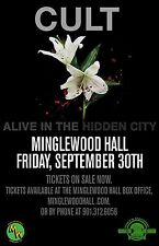 "Cult ""Alive In The Hidden City"" 2016 Memphis Concert Tour Poster-Hard Rock Music"