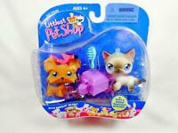 NEW! Littlest Pet Shop set of Siamese cat #5 and Yorkie dog #6 New in Package