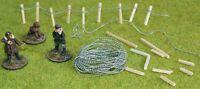 Barbed wire miniature wargames model railway 40K 28mm 15mm