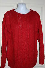 New womens Chaps red sweater w occasional metallic thread accent size Medium
