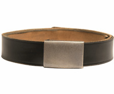 German army surplus small BLACK leather belt in a range of sizes