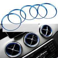 5PCS Blue Air Vent Outlet Cover Ring Trim For Benz A Class A200 A180 A220 W176