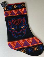 "Marvel Comics Black Panther 20"" Knit Christmas Gift Xmas Stocking NEW"