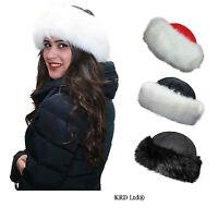 New High Quality Russian Cossack Style Ushanka Ladies Faux Fur Warm Winter Hat