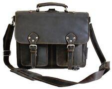 Vintage Multifunktionstasche(Aktentasche/Rucksack) Echtleder Braun GREENWOOD #91