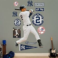 "Derek Jeter Legacy Yankees 4'2"" x 6'2"" FATHEAD Real Big LIFESIZE + All Extras"