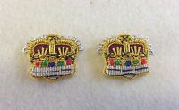 Silver & Gold Embroidered Mess Dress Crowns, Army, Military, Rank, Officers