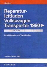 VW Bus T3 - Reparaturleitfaden - Diesel Motor Einspritzanlage