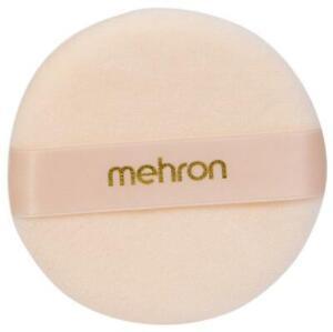 123C Mehron Logo Powder Puff makeup accessory face paint beauty fashion stage TV
