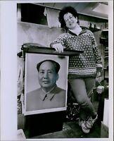 LG780 1989 Original George Martell Photo CHAIRMAN MAO ZEDONG Communist Supporter
