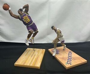 Utah Jazz - NBA McFarlane Lot of 2 Loose Figures - Karl Malone John Stockton