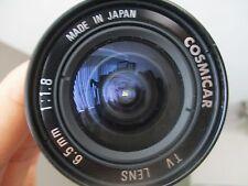 Cosmicar 6.5mm F1.8 ULTRAWIDE C-Mount Lens BMPCC Blackmagic Pocket Cinema Camera