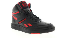 Reebok BB 4600 EH3332 Mens Black Leather High Top Basketball Sneakers Shoes