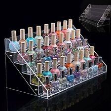 Makeup Nail Polish Display Stand Organizer Clear Holder Rack Acrylic 60 Bottles