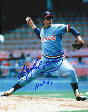 GAYLORD PERRY SIGNED TEXAS RANGERS 8X10 #1 HOF91