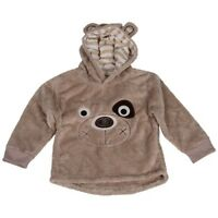NEW Boys Girls Puppy Dog Winter Fleece Hoodie Hooded Jumper Xmas Age 1 2 3 4 5