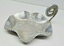 Vintage Farber Shlevin Hand Wrought Hammered Aluminum Tray Dish 1701