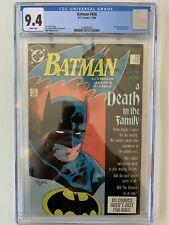 BATMAN 426 -  CGC  9.4 - A Death in the Family.  Book One Jim Starlin 1988 DC