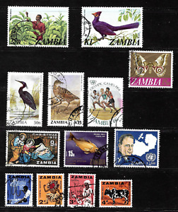 Zambia .. Collection of used postage stamps .. 7425