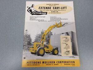 Rare Pettibone Super 8 Series Extendo Cary-Lift Sales Sheet