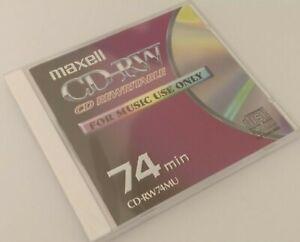 Maxell CD-RW74 / CD-RW74MU CD-RW Audio Music CD RW RE-WRITABLE Blank Disc - NEW