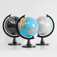 22.5cm Plastic Rotating World Globe Map Atlas Kids Childrens Bedroom Decoration