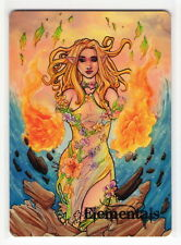 Perna Studios Elementals Lynne Anderson 4 Element White Back TY Metal Promo Card