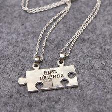 Best Friends 2pcs Graphics fight Necklace Pendant Set of necklaces silver BFF!!