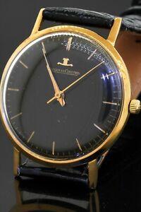 Jaeger-LeCoultre 18K gold manual winding men's watch w/ Black dial