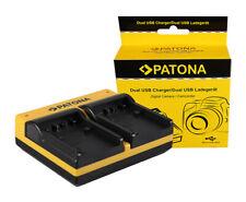 Caricabatteria USB doppio Patona per Sony HDR-CX700,HDR-CX730,HDR-CX740