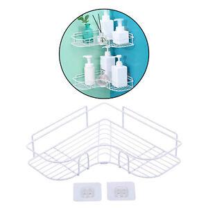 Corner Frame Shower Shelf Wrought Iron Shampoo Storage Rack Bathroom Accessories