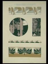 ART NOUVEAU, ALBERT WEISGERBER -1903- LITHOGRAPHIE, PAYSAGE,