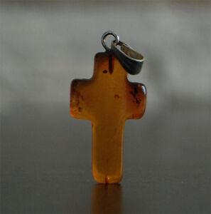 Baltic Amber Pendant Cross