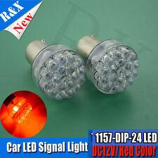 2X BAY15D RED 24 LED 1157 Dual Filament Brake Stop Tail Light Bulb Globe 12V l6