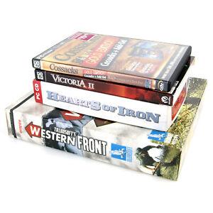 Talonsoft's Western Front / Hearts of Iron / Cossacks - PC Big Box WWII War