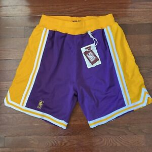 Mitchell & Ness 1996/97 LA Lakers Authentic Game Shorts Size Large Purple