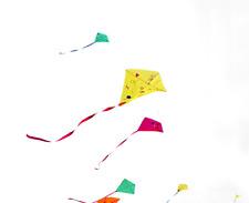 Aquilone didattico per bambini  kit laboratori 15 pezzi aquiloni da pitturare