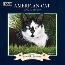 AMERICAN CAT - 2022 MINI WALL CALENDAR 7x7 - BRAND NEW - LANG ART 79235