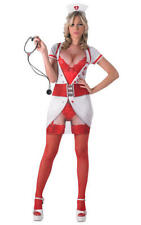 Womens Ladies Naughty Sexy Nurse Fancy Dress Costume Outfit Adult UK 12-14