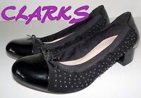 """Fabulous """"CLARKS"""" Black  Patent Leather  Ballet Pumps  Shoes  UK 3   EU 36  £65"""