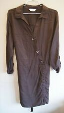 Florence & Fred Brown Long-sleeved Shirt Dress with Waist Ties Size 20