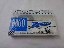 Zenith HR 60 Normal Bias Low Noise EQ 120 Type I Blank Audio Cassette--NIP