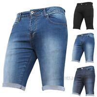 New Boys Kids Children's Stretch Denim Shorts Turn Up Jeans Adjustable Waist