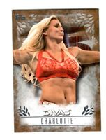 WWE Charlotte DR-13 2016 Topps Undisputed Bronze Parallel Card SN 56 of 99