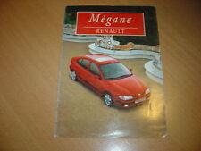 DEPLIANT Renault Megane de 1997 Belgique